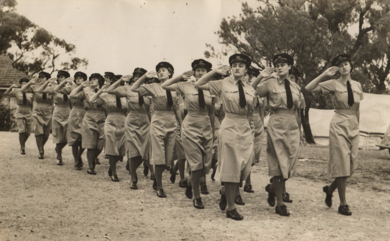 800px-Joan Hall, passing out parade, January 1943 (cropped).png