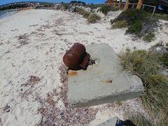 Rusty buoy on the beach near the Army Jetty.jpg